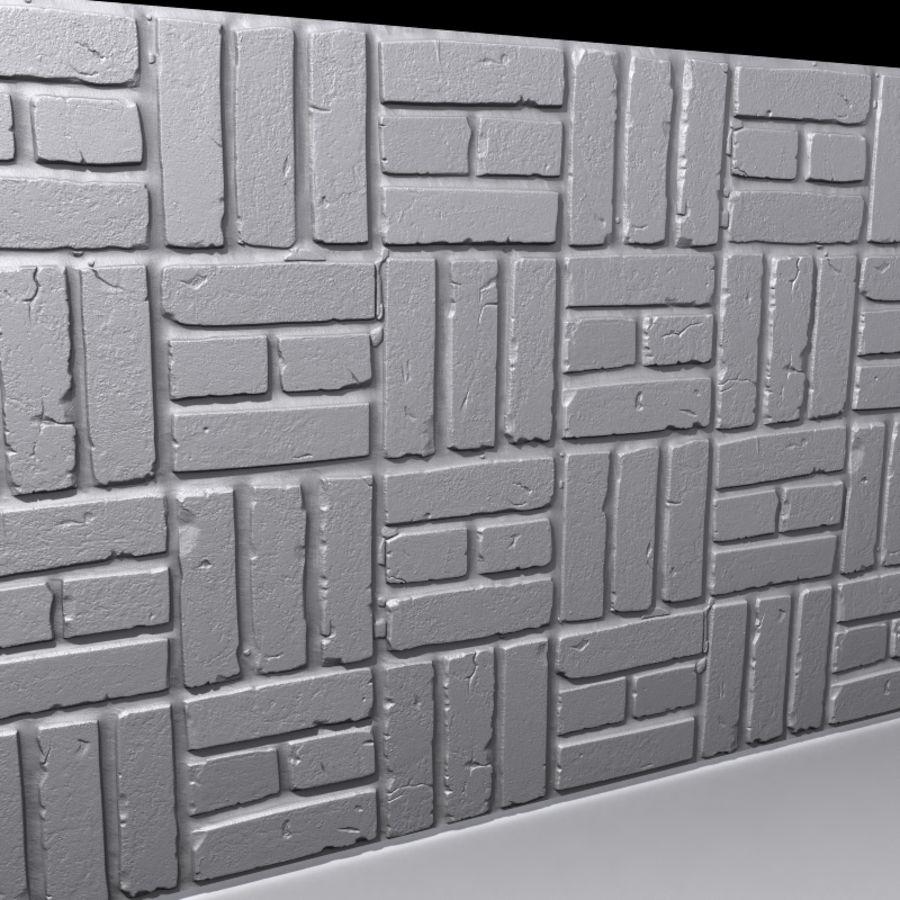 Bricks wall #15 royalty-free 3d model - Preview no. 5