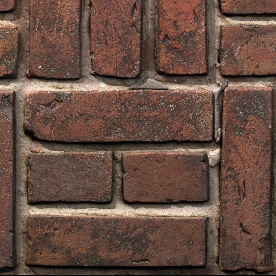 Bricks wall #15 royalty-free 3d model - Preview no. 7