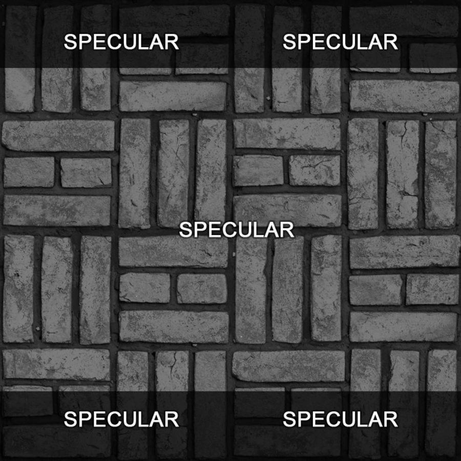 Bricks wall #15 royalty-free 3d model - Preview no. 13