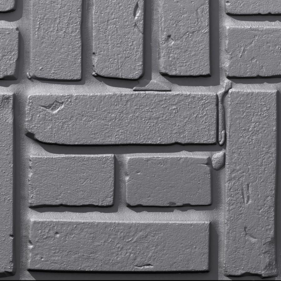 Bricks wall #15 royalty-free 3d model - Preview no. 8