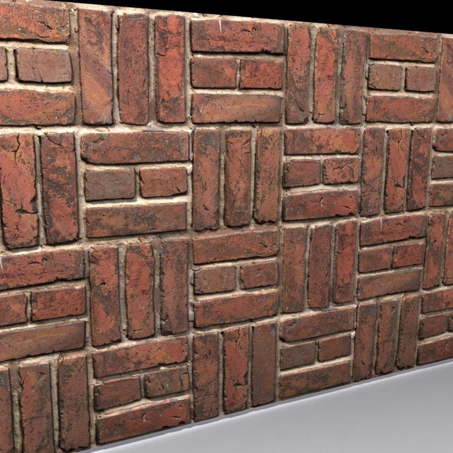 Bricks wall #15 royalty-free 3d model - Preview no. 4
