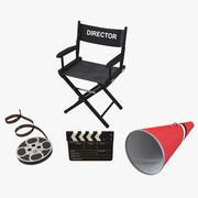 Krzesło reżysera i kolekcja akcesoriów 3 3d model