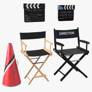 Director Accessories 3D Models Collection 3d model