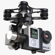 Gimbal Stabilizer With GoPro 4 Black 3d model