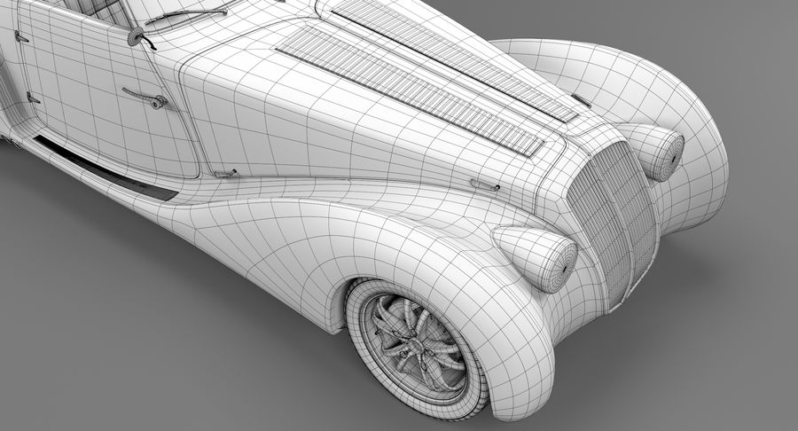 Prototype de voiture royalty-free 3d model - Preview no. 33