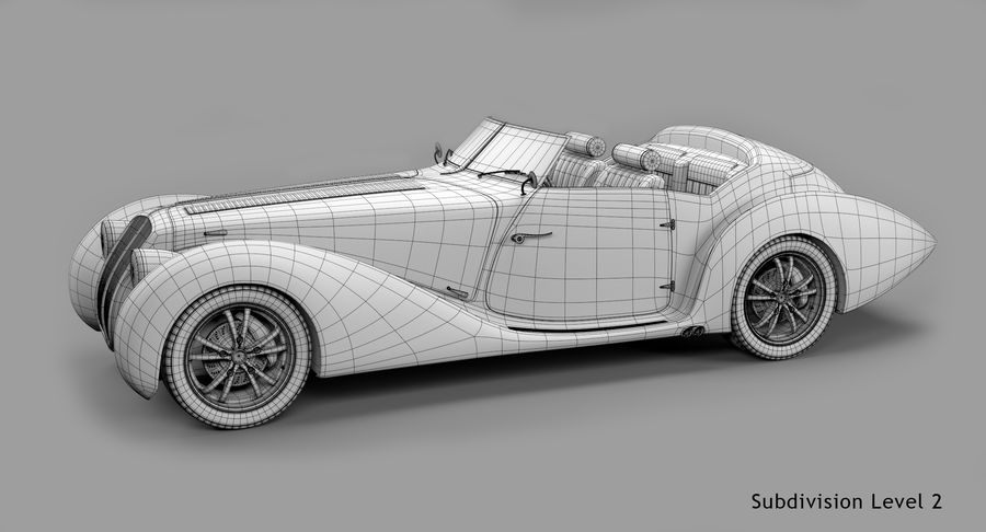 Prototype de voiture royalty-free 3d model - Preview no. 58