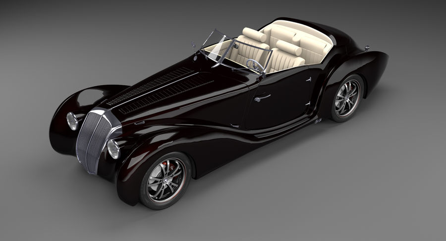 Prototype de voiture royalty-free 3d model - Preview no. 9