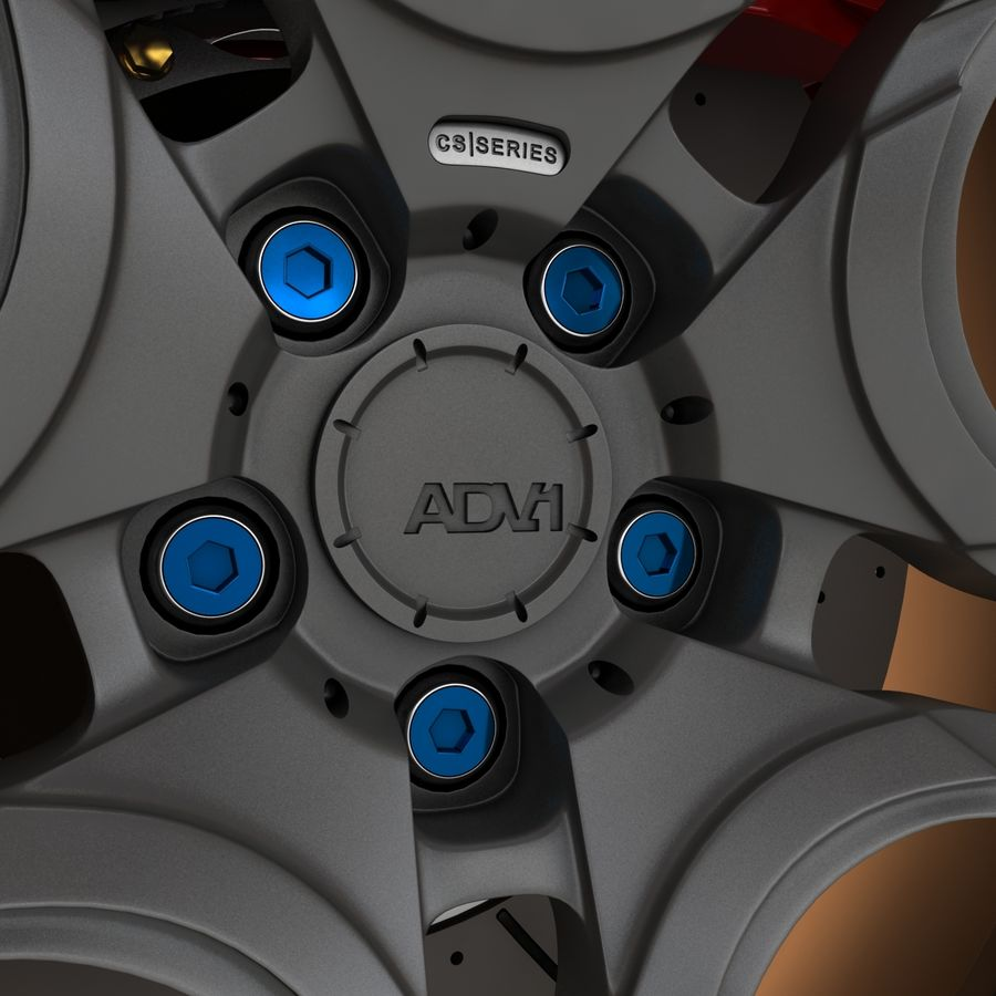 Roue 05C royalty-free 3d model - Preview no. 8