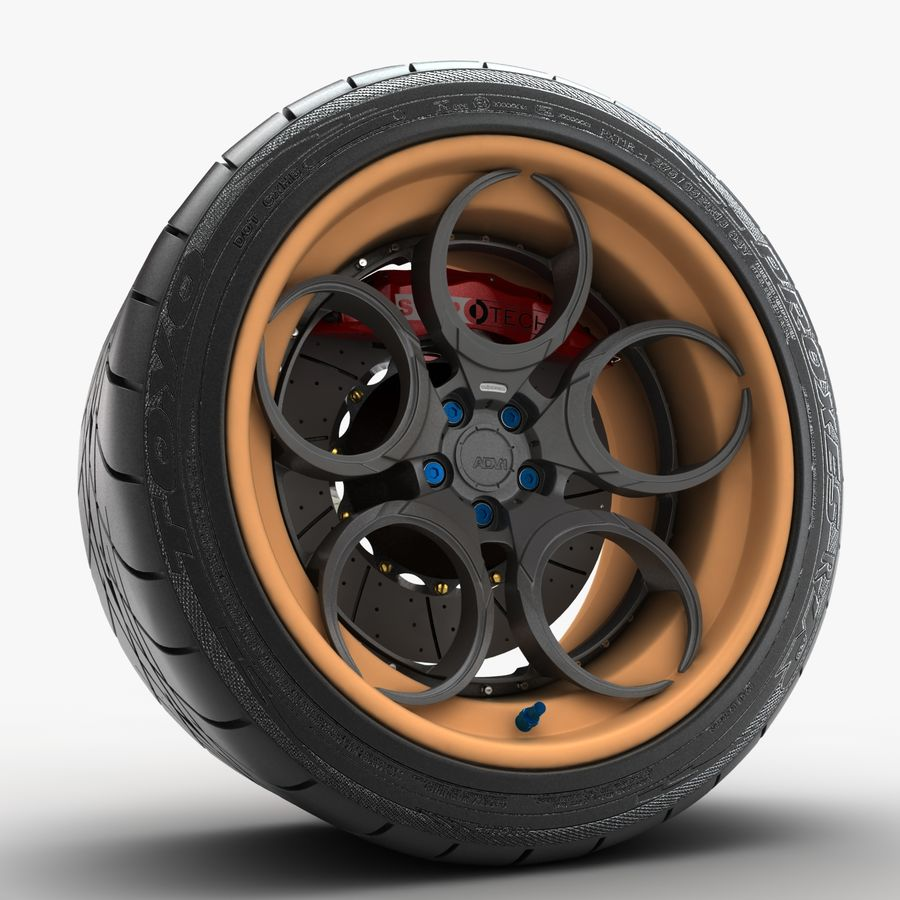 Roue 05C royalty-free 3d model - Preview no. 4