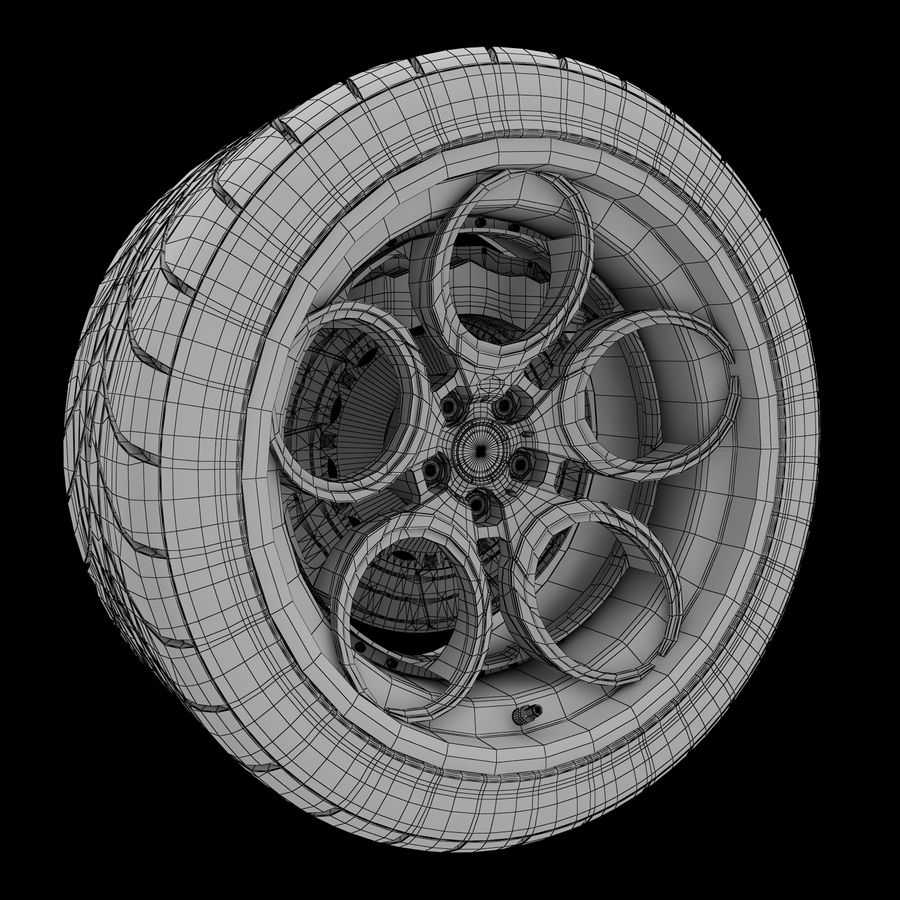 Roue 05C royalty-free 3d model - Preview no. 22