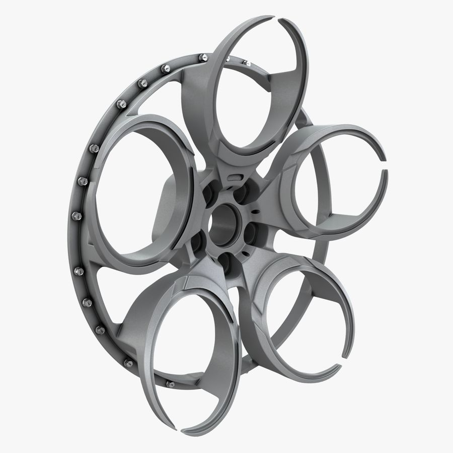Roue 05C royalty-free 3d model - Preview no. 11