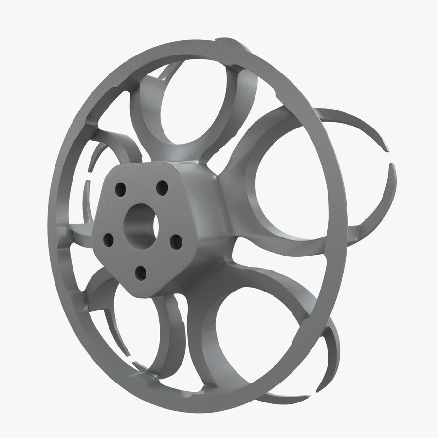 Roue 05C royalty-free 3d model - Preview no. 12