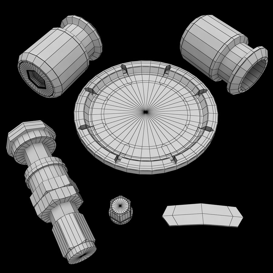 Roue 05C royalty-free 3d model - Preview no. 20