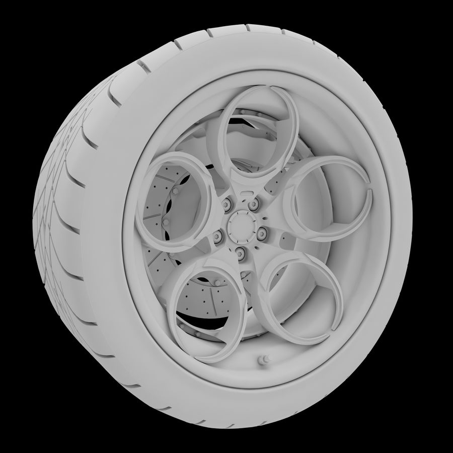 Roue 05C royalty-free 3d model - Preview no. 23