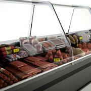Supermärkte Deli Fleisch Display 3d model