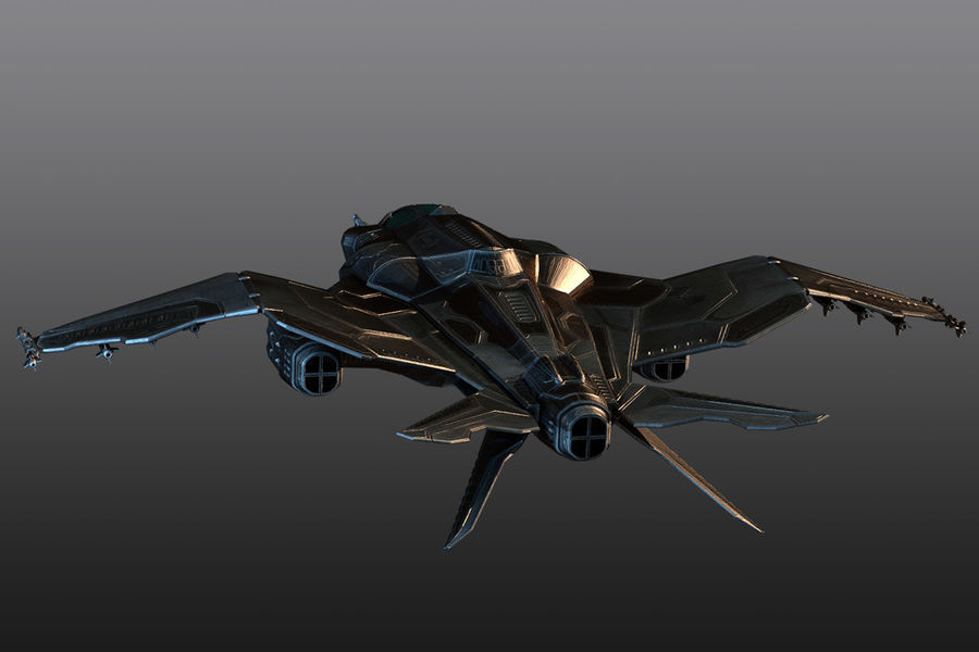 Bomber fighter royalty-free 3d model - Preview no. 6