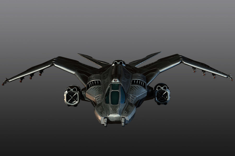 Bomber fighter royalty-free 3d model - Preview no. 1