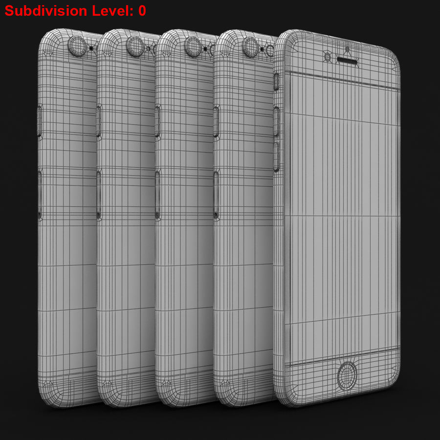 Apple iPhone 6s 모든 색상 royalty-free 3d model - Preview no. 83