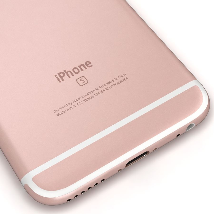 Apple iPhone 6s 모든 색상 royalty-free 3d model - Preview no. 67