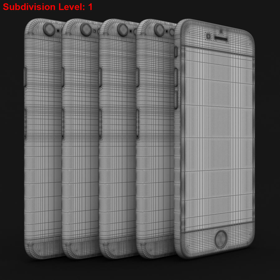 Apple iPhone 6s 모든 색상 royalty-free 3d model - Preview no. 82