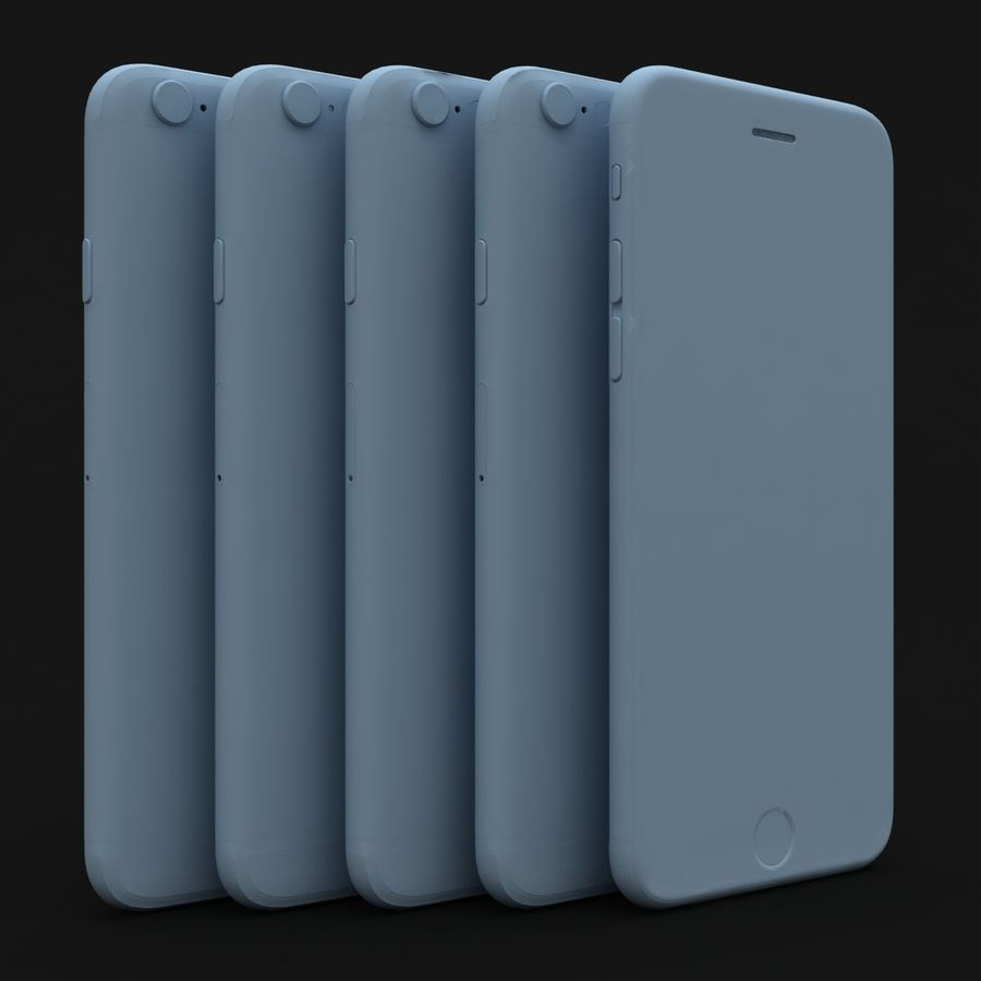 Apple iPhone 6s 모든 색상 royalty-free 3d model - Preview no. 81