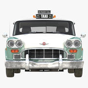Checker Taxicab 1982 Einfaches Interieur 3d model