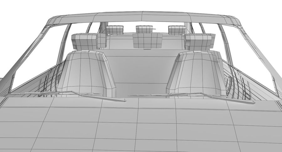 Merc Limo royalty-free 3d model - Preview no. 32