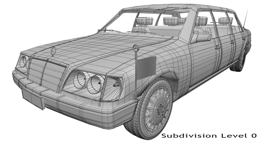 Merc Limo royalty-free 3d model - Preview no. 18