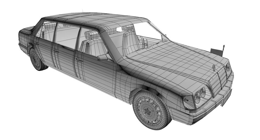 Merc Limo royalty-free 3d model - Preview no. 20