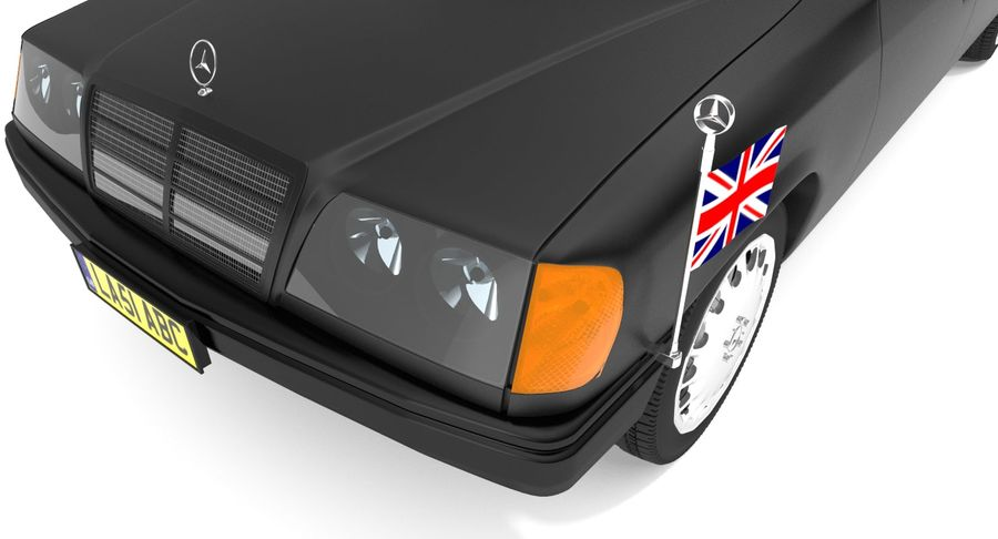 Merc Limo royalty-free 3d model - Preview no. 8