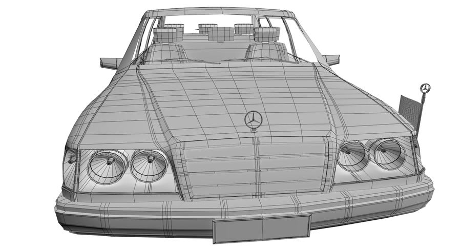 Merc Limo royalty-free 3d model - Preview no. 24