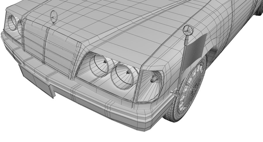 Merc Limo royalty-free 3d model - Preview no. 25