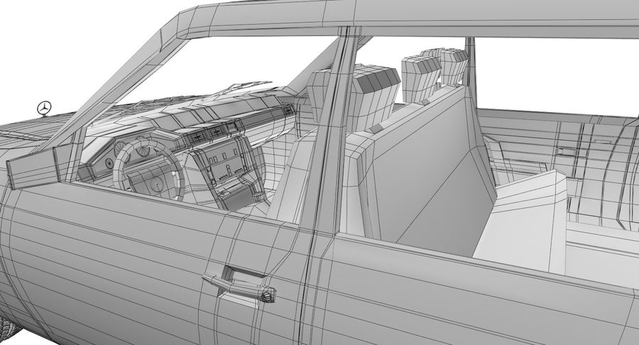 Merc Limo royalty-free 3d model - Preview no. 27