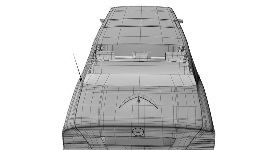 Merc Limo royalty-free 3d model - Preview no. 30