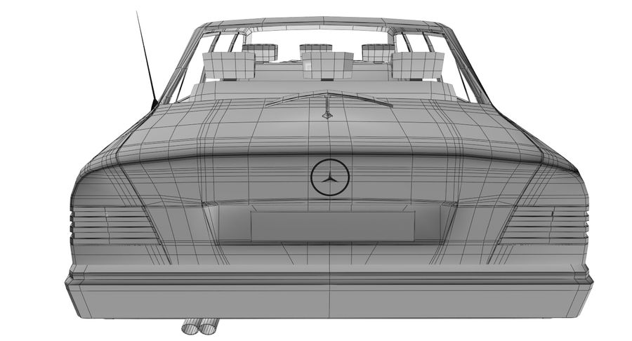 Merc Limo royalty-free 3d model - Preview no. 22