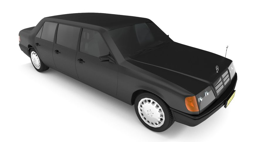 Merc Limo royalty-free 3d model - Preview no. 3
