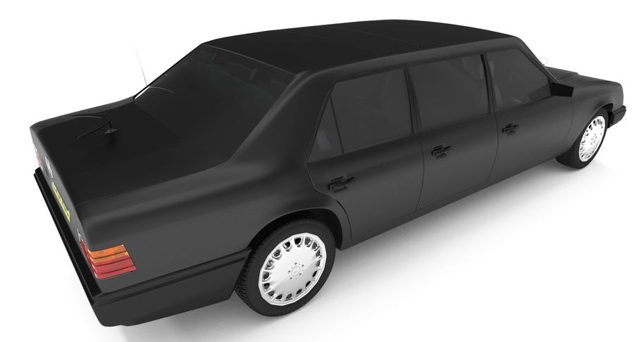 Merc Limo royalty-free 3d model - Preview no. 4