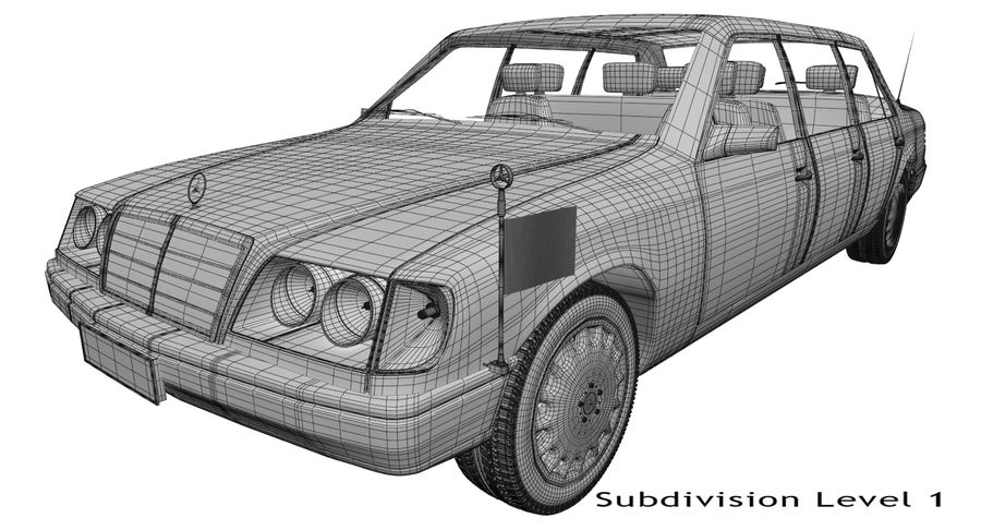 Merc Limo royalty-free 3d model - Preview no. 19