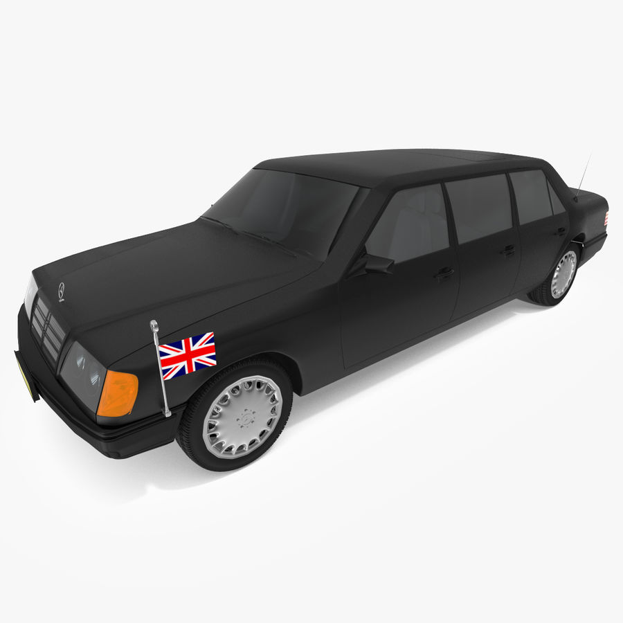 Merc Limo royalty-free 3d model - Preview no. 1