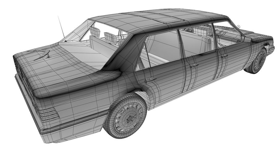 Merc Limo royalty-free 3d model - Preview no. 21