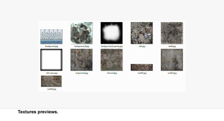 Ruined Destroyed Building royalty-free 3d model - Preview no. 14