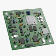 전자 보드 3d model