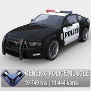 "Generisk polisbil ""hingst"" 3d model"