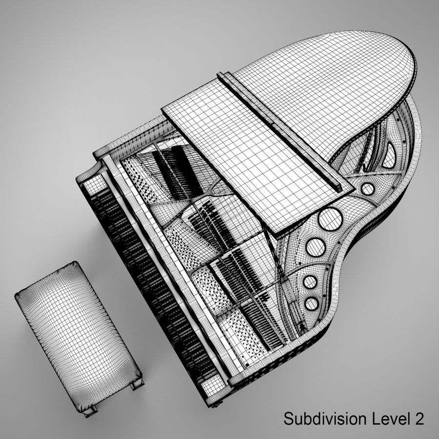 Flygel royalty-free 3d model - Preview no. 26