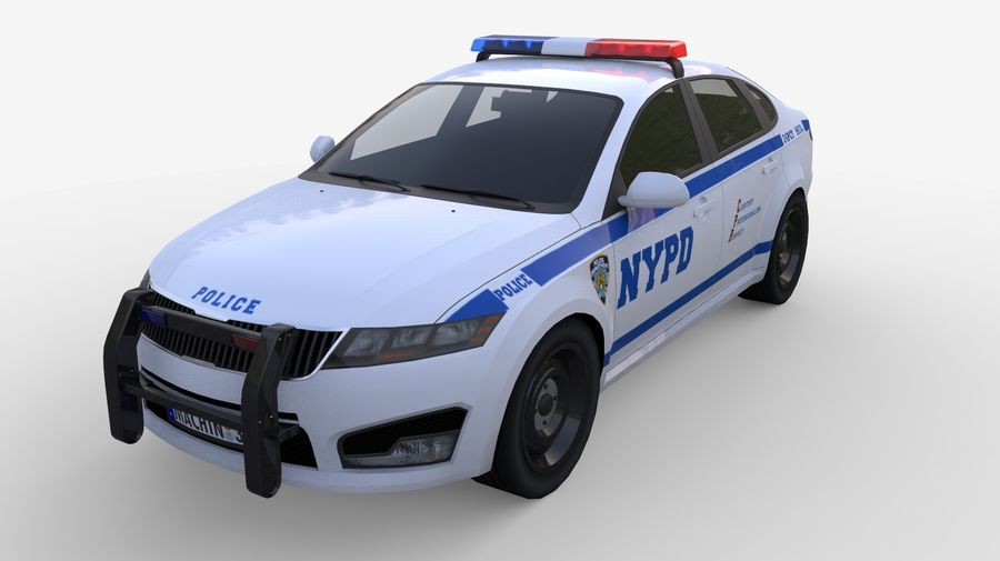 NYPD polisbil 01 royalty-free 3d model - Preview no. 5