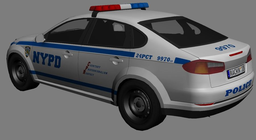 NYPD polisbil 01 royalty-free 3d model - Preview no. 8