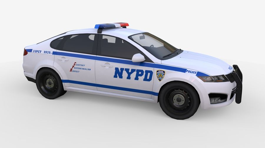NYPD polisbil 01 royalty-free 3d model - Preview no. 4