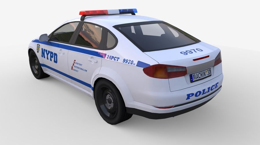 NYPD polisbil 01 royalty-free 3d model - Preview no. 2