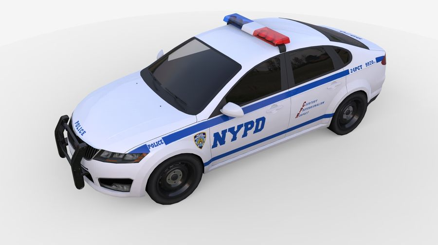 NYPD polisbil 01 royalty-free 3d model - Preview no. 6