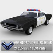 """Generisk polisbil """"Kowalsky"""" 3d model"""